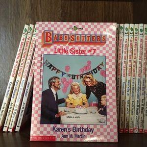 Babysitters Little Sister Lot of Books